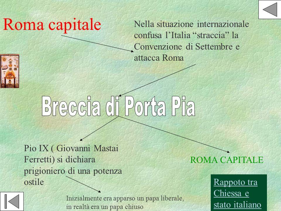 Roma capitale Breccia di Porta Pia
