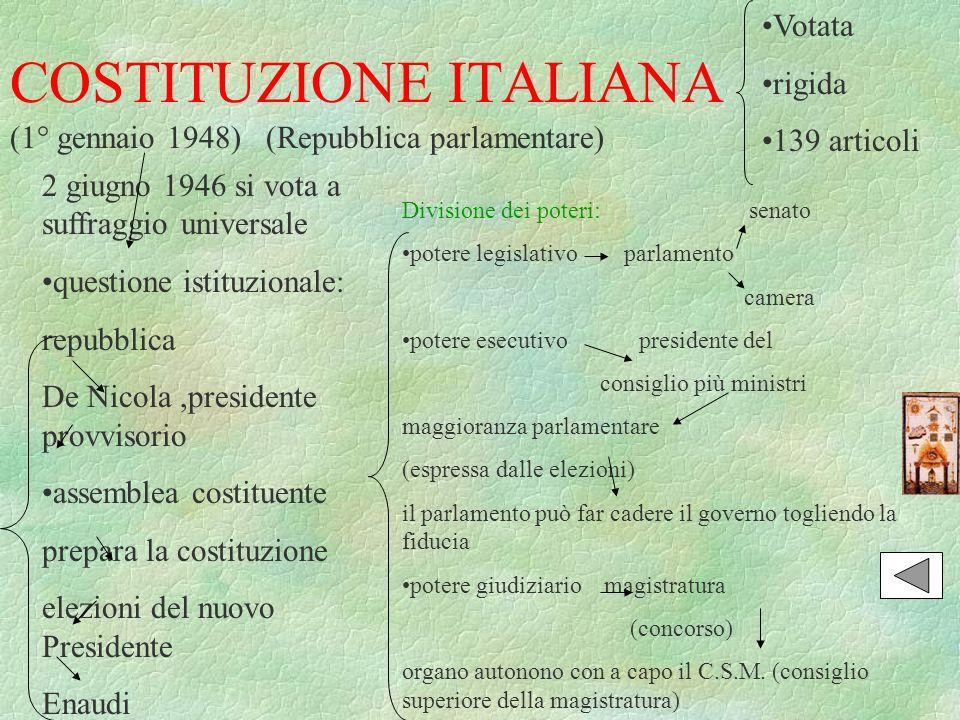 Risorgimento italiano luciano di corallo a cura legenda for Repubblica parlamentare italiana