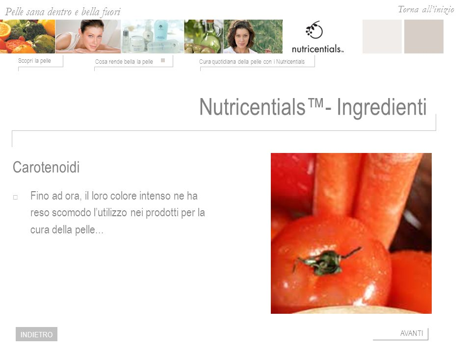 Nutricentials™- Ingredienti