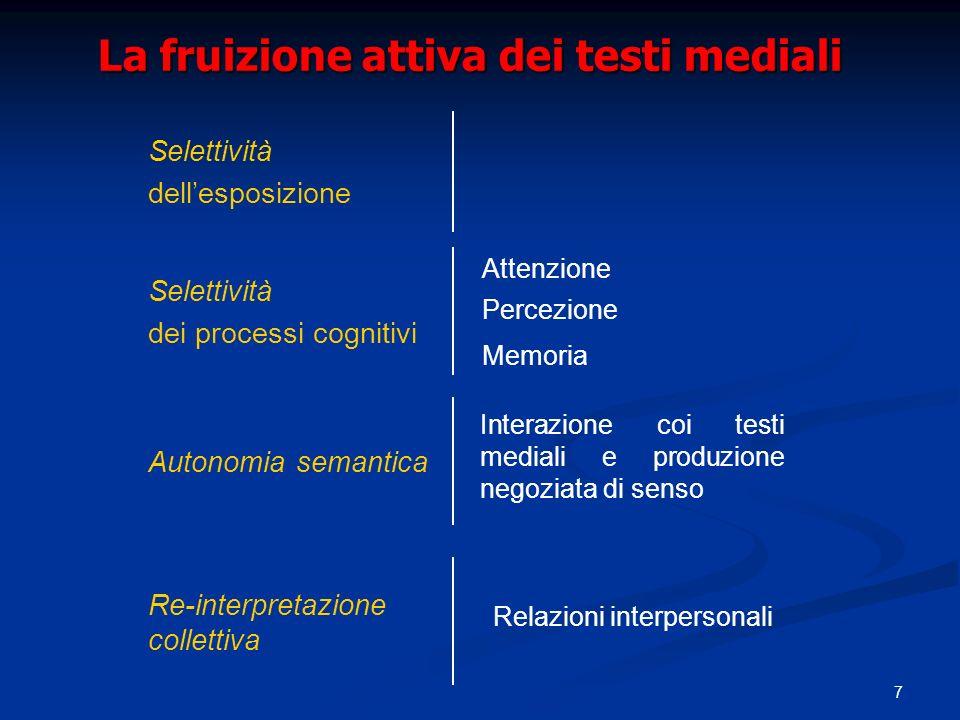 La fruizione attiva dei testi mediali