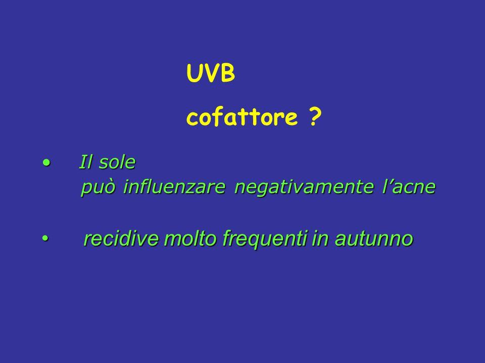 UVB cofattore recidive molto frequenti in autunno Il sole