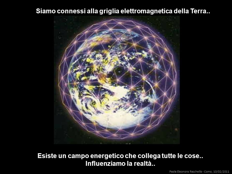 Siamo connessi alla griglia elettromagnetica della Terra..