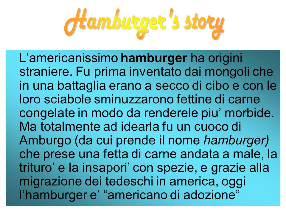 Hamburger s story
