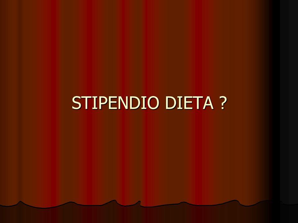 STIPENDIO DIETA