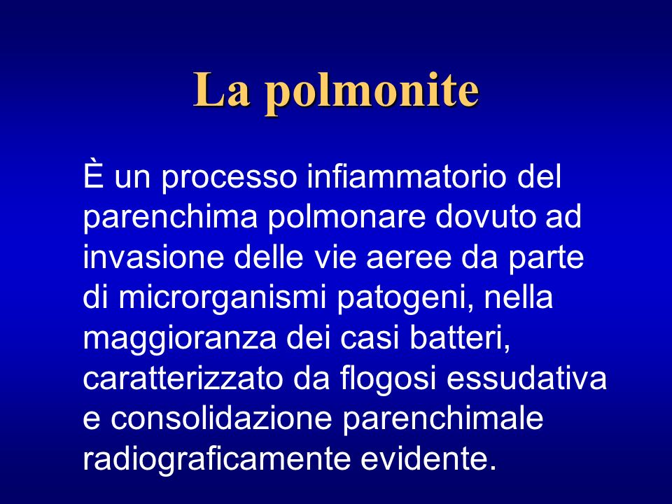 La polmonite