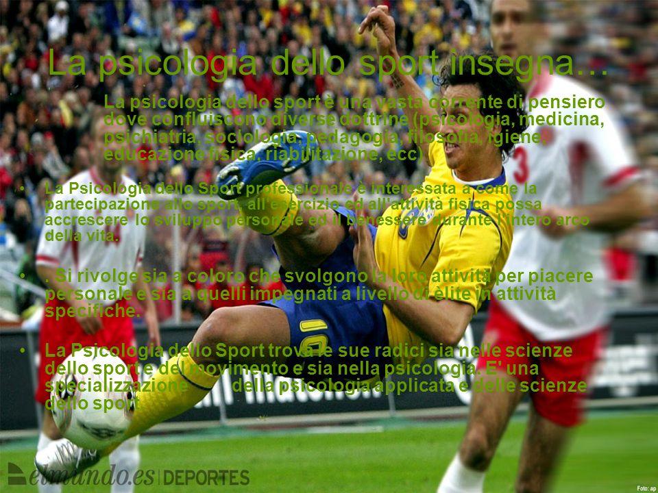 La psicologia dello sport insegna…