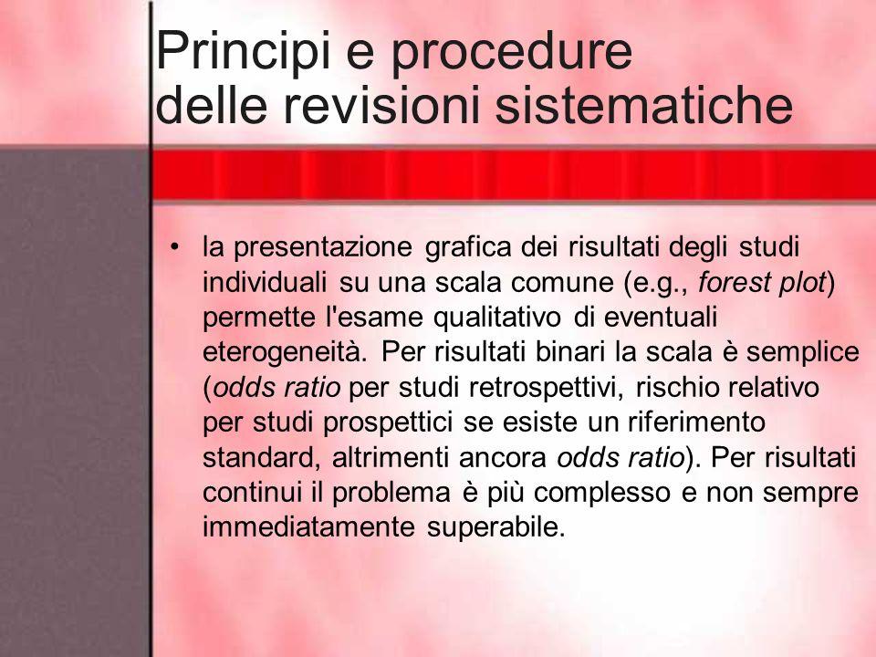 Principi e procedure delle revisioni sistematiche
