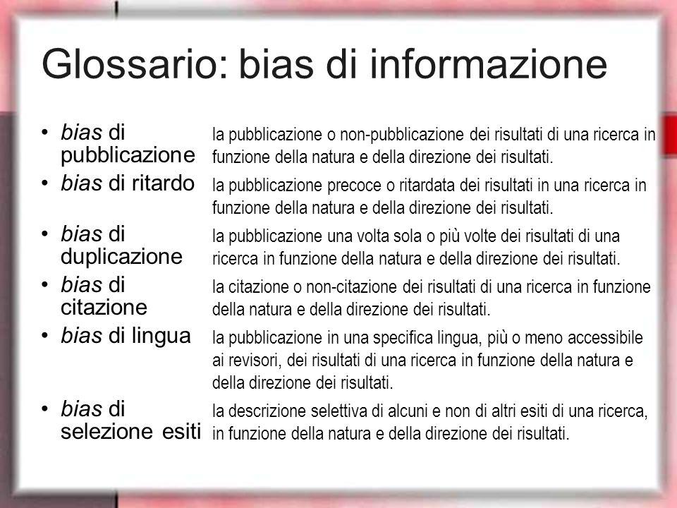 Glossario: bias di informazione