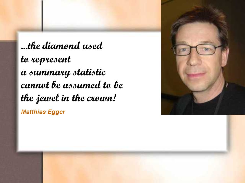 ...the diamond used to represent a summary statistic cannot be assumed to be the jewel in the crown.