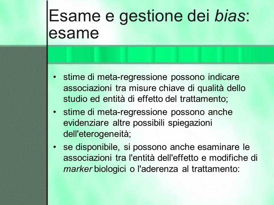 Esame e gestione dei bias: esame