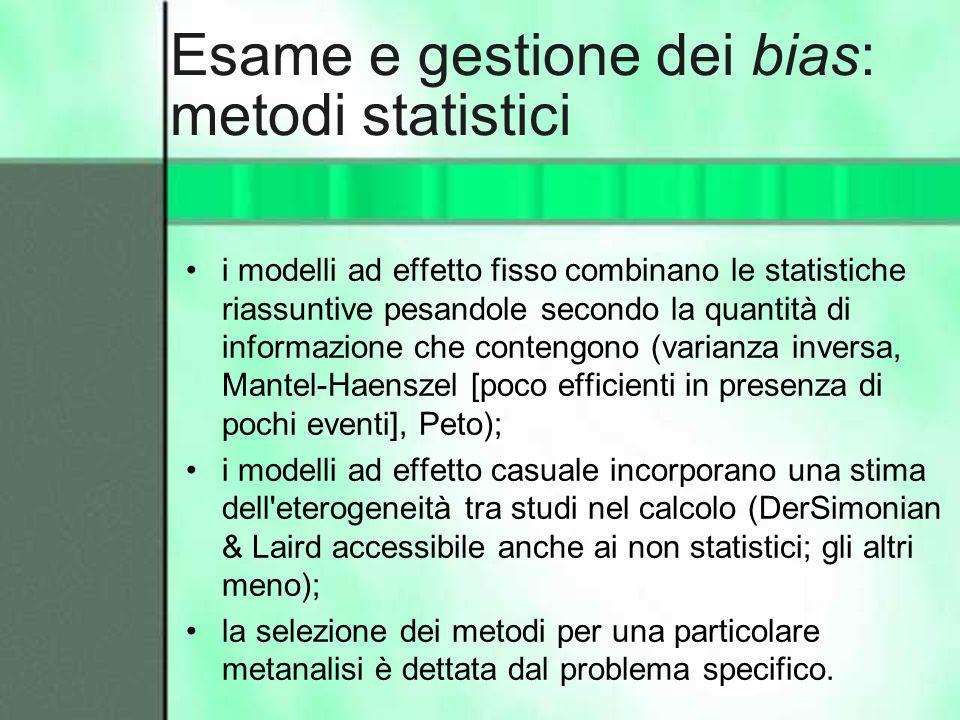 Esame e gestione dei bias: metodi statistici