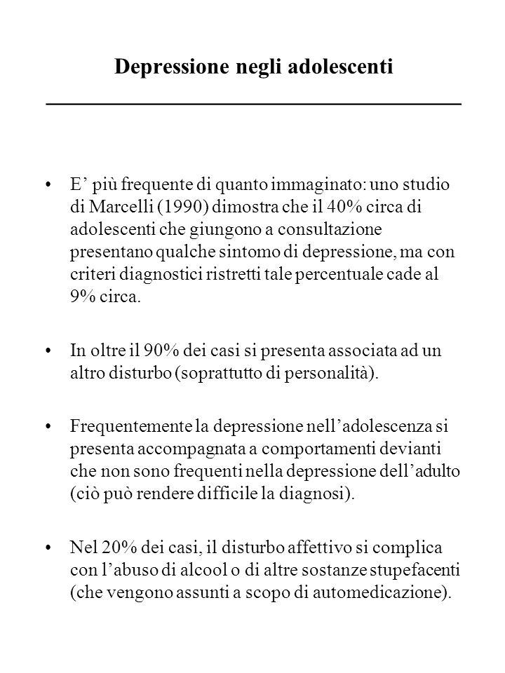 Depressione negli adolescenti _____________________________________