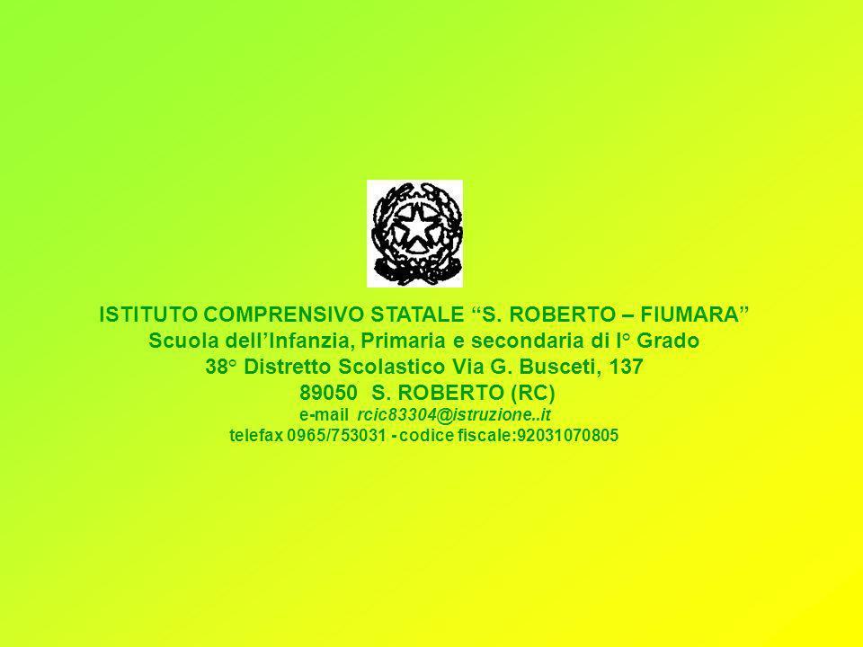 ISTITUTO COMPRENSIVO STATALE S. ROBERTO – FIUMARA