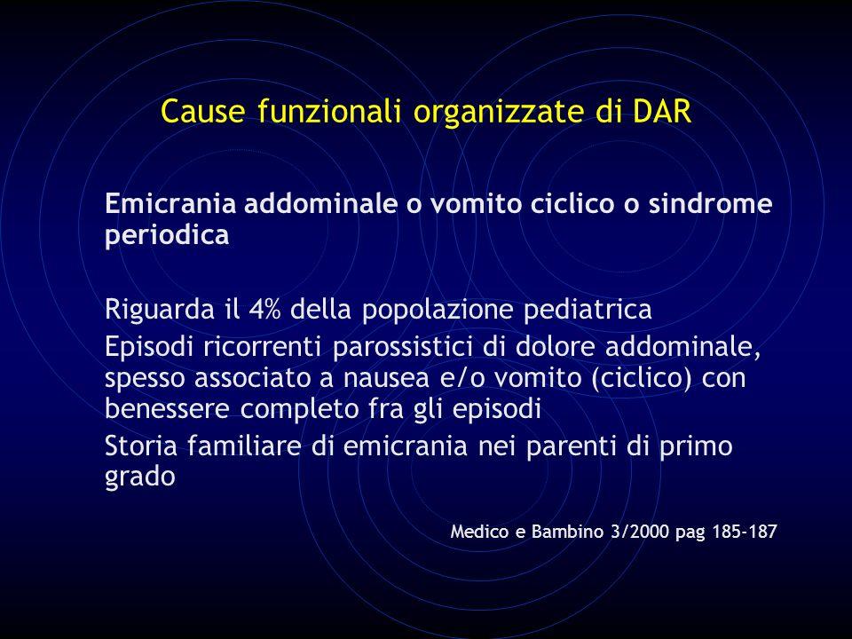 Cause funzionali organizzate di DAR