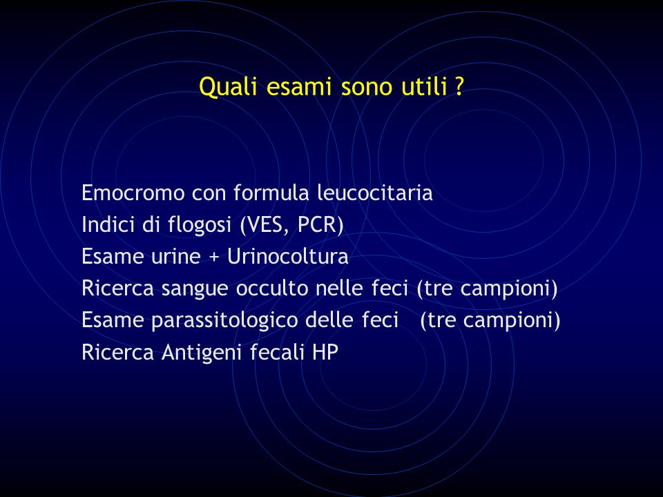 Quali esami sono utili Emocromo con formula leucocitaria