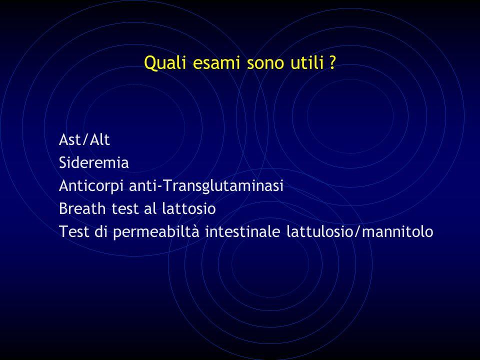 Quali esami sono utili Ast/Alt Sideremia