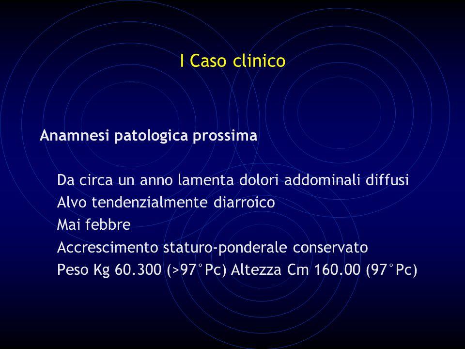 I Caso clinico Anamnesi patologica prossima