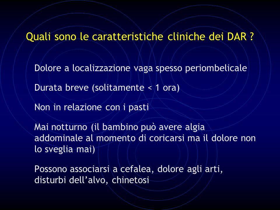 Quali sono le caratteristiche cliniche dei DAR