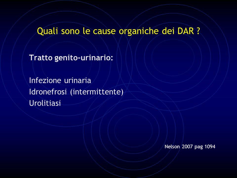 Quali sono le cause organiche dei DAR