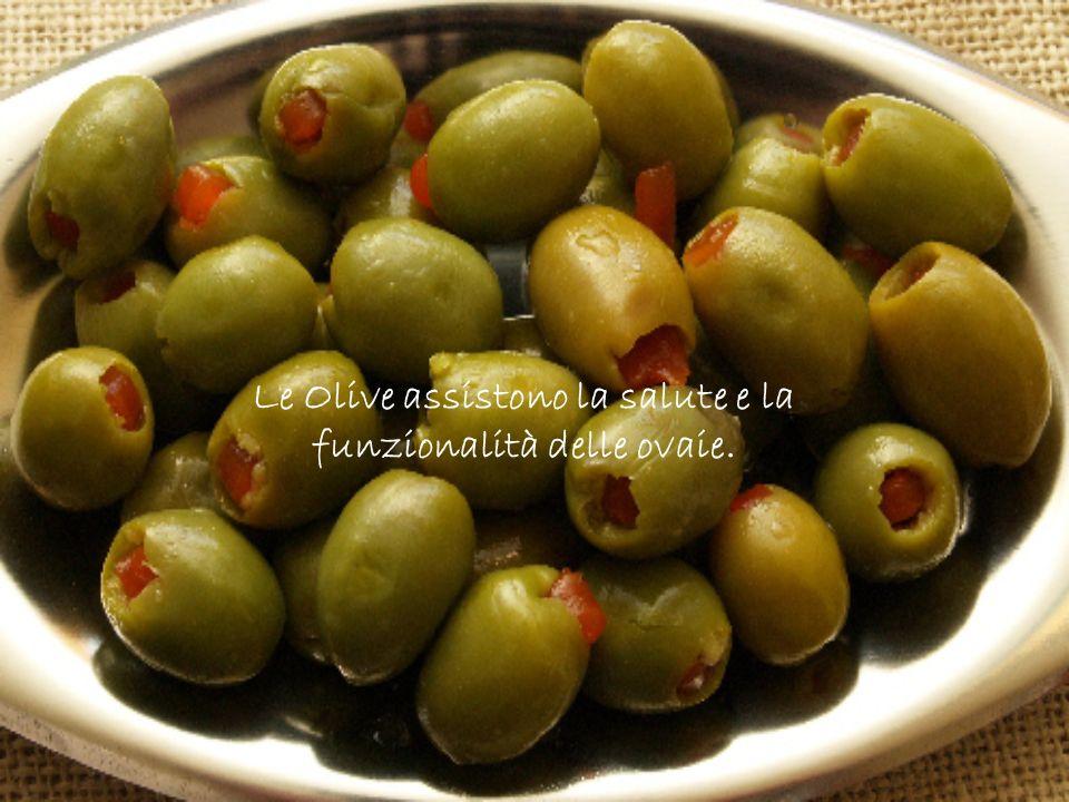 Le Olive assistono la salute e la funzionalità delle ovaie.