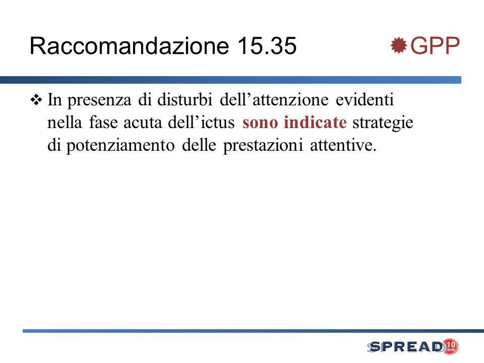 Raccomandazione 15.35 GPP