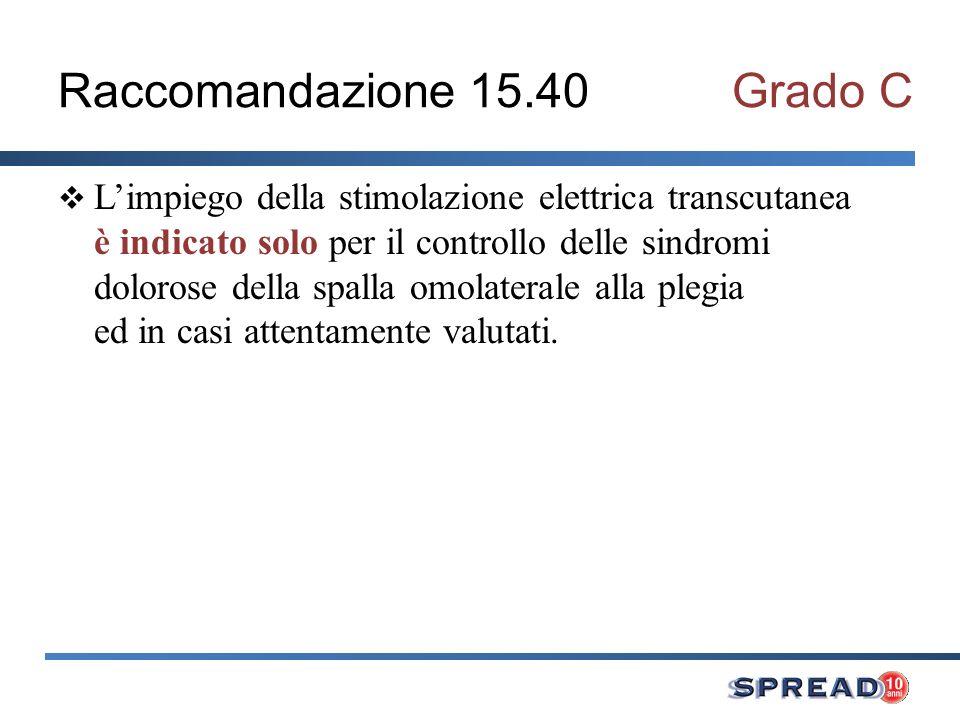 Raccomandazione 15.40 Grado C