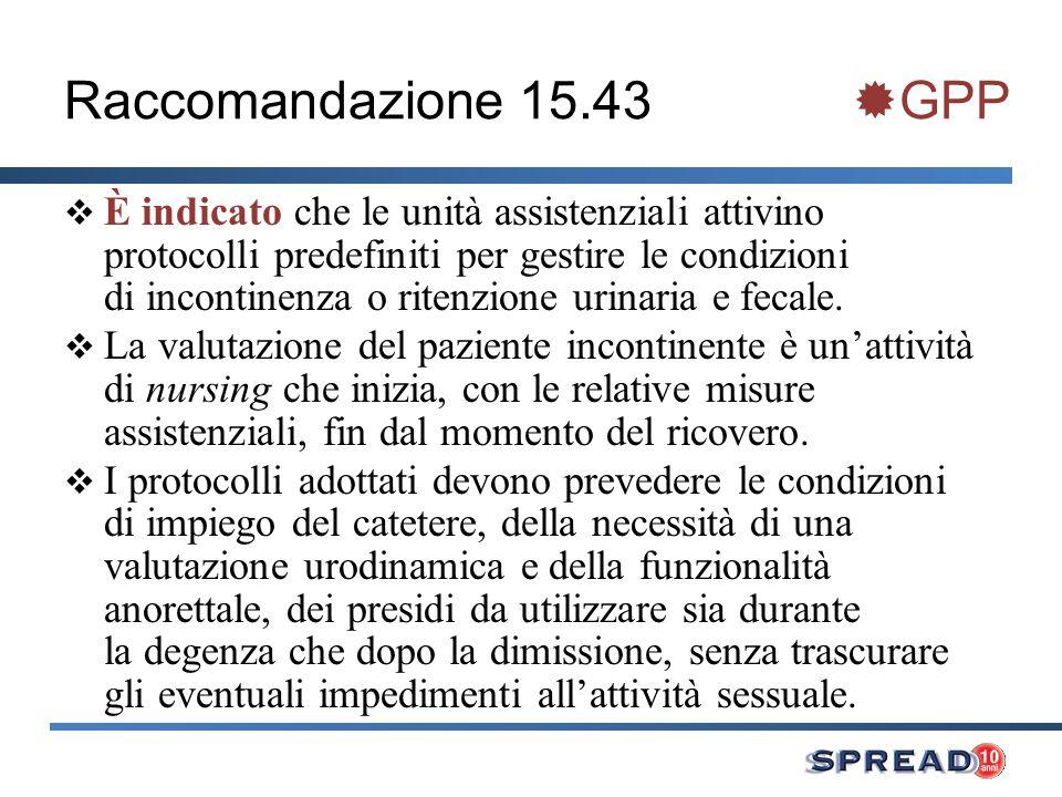 Raccomandazione 15.43 GPP