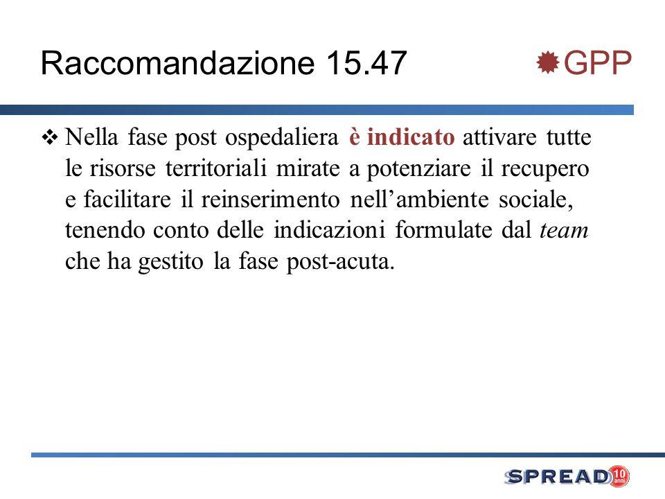 Raccomandazione 15.47 GPP