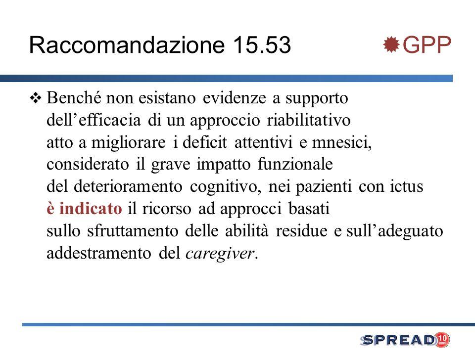 Raccomandazione 15.53 GPP