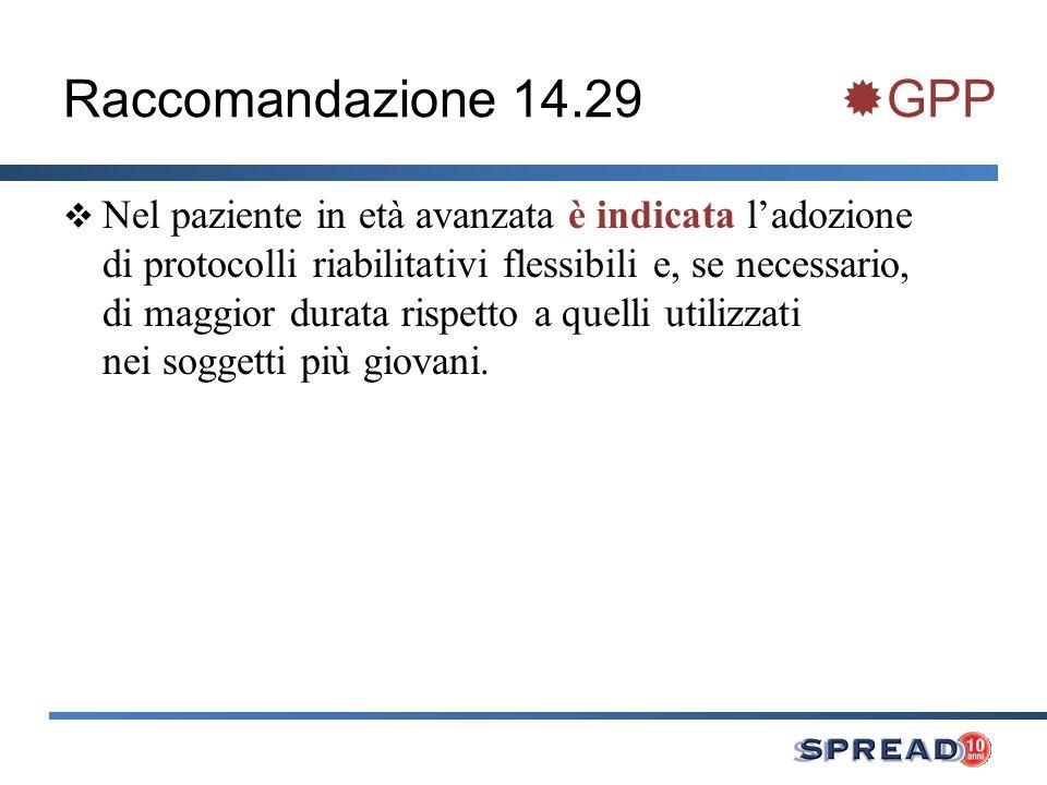 Raccomandazione 14.29 GPP