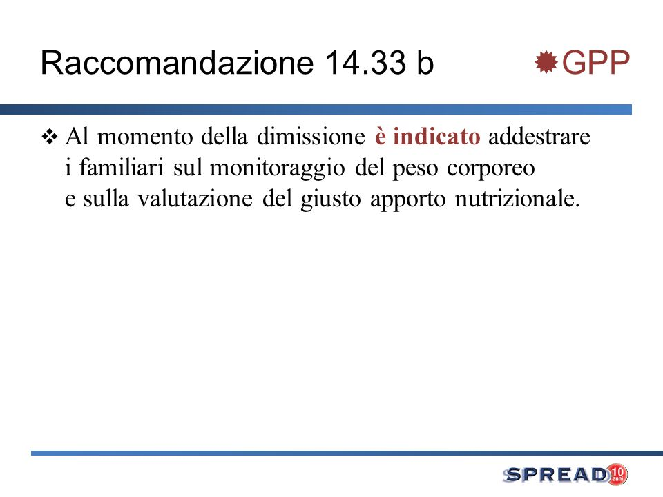Raccomandazione 14.33 b GPP
