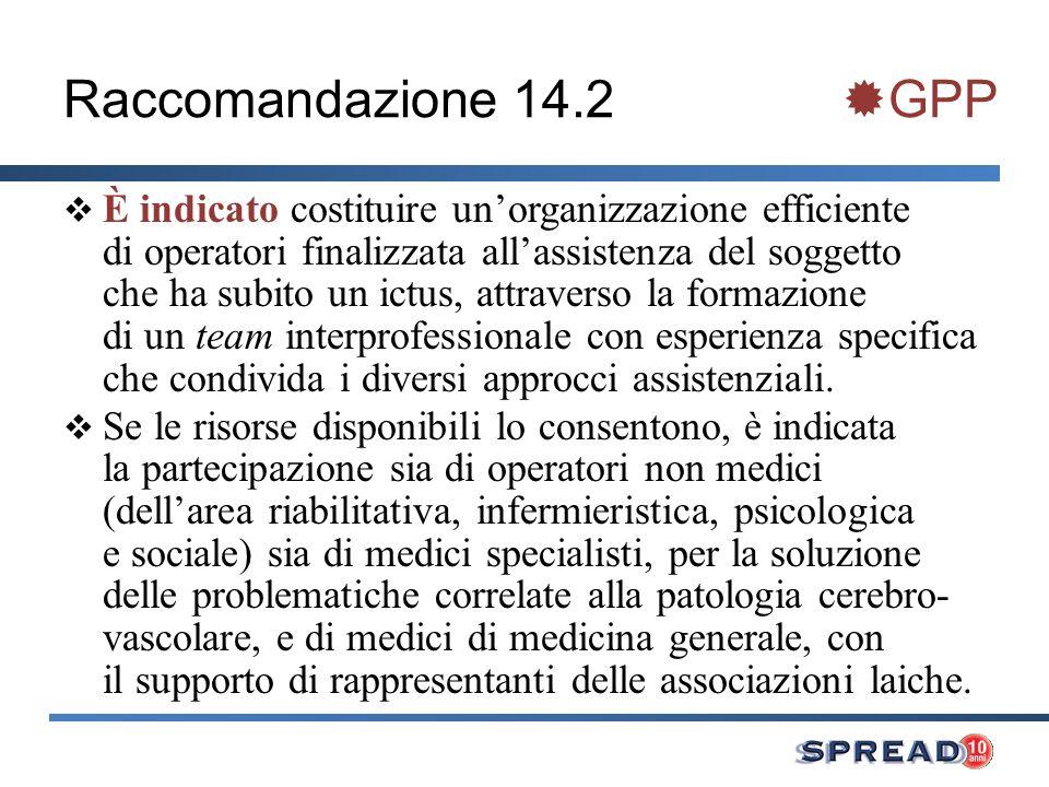 Raccomandazione 14.2 GPP