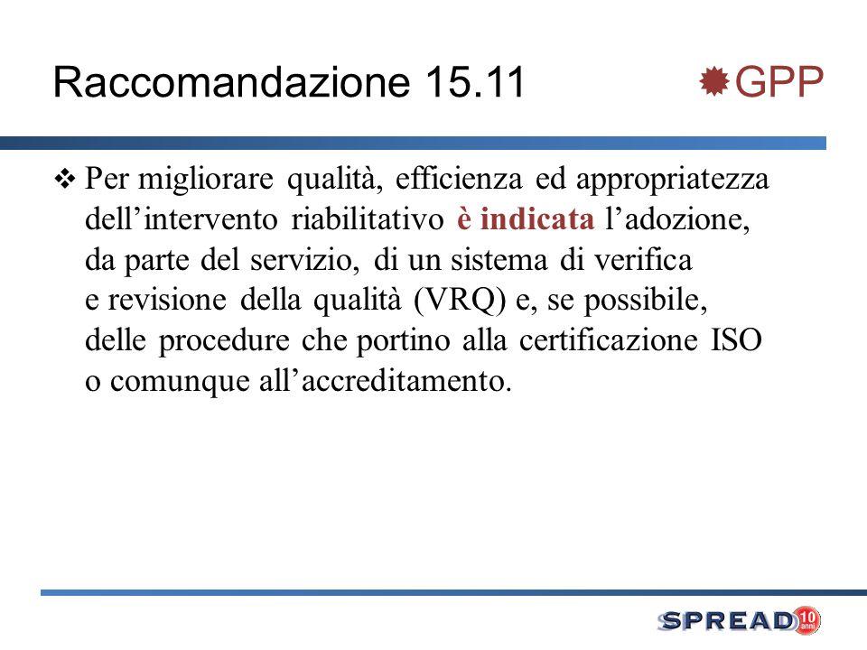 Raccomandazione 15.11 GPP