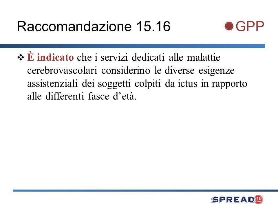 Raccomandazione 15.16 GPP