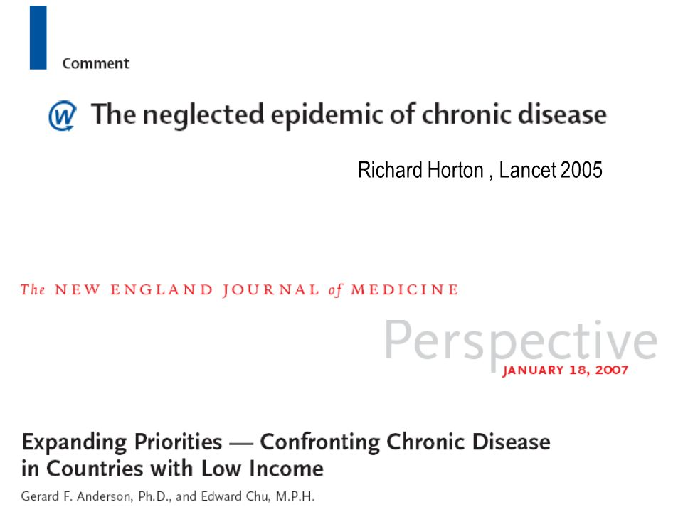 Richard Horton , Lancet 2005
