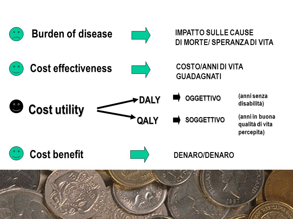 Cost utility Burden of disease Cost effectiveness Cost benefit DALY