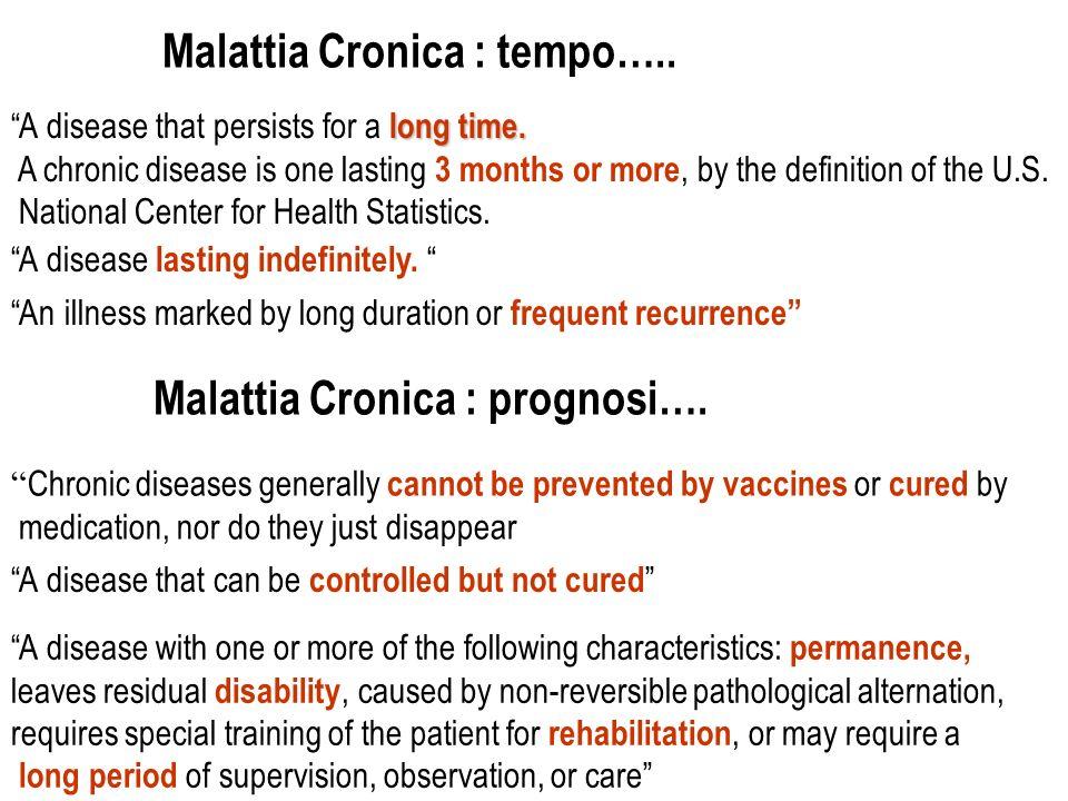 Malattia Cronica : tempo…..