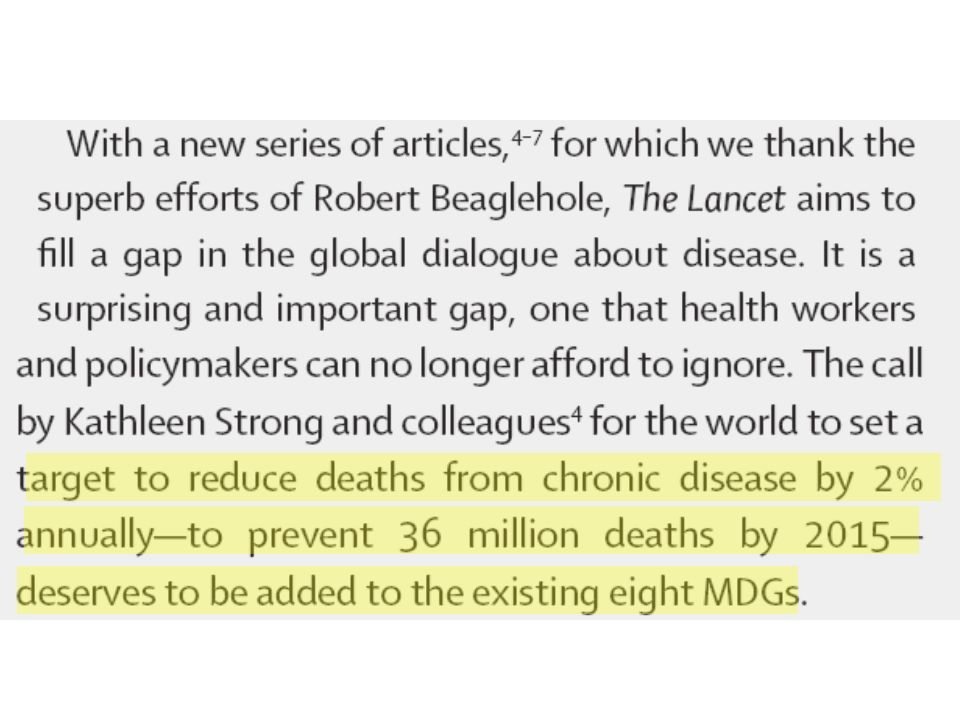Horton, The Lancet 2005