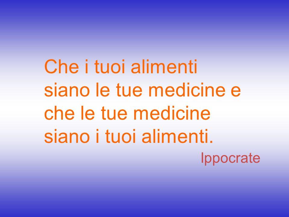 Che i tuoi alimenti siano le tue medicine e che le tue medicine siano i tuoi alimenti.