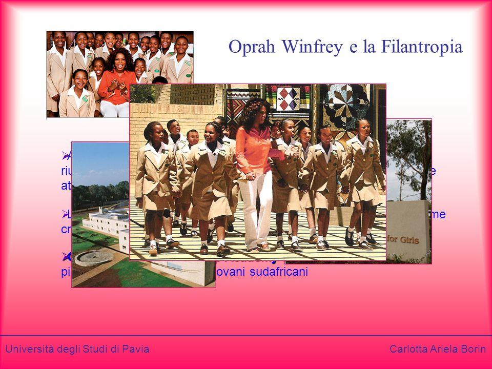 Oprah Winfrey e la Filantropia