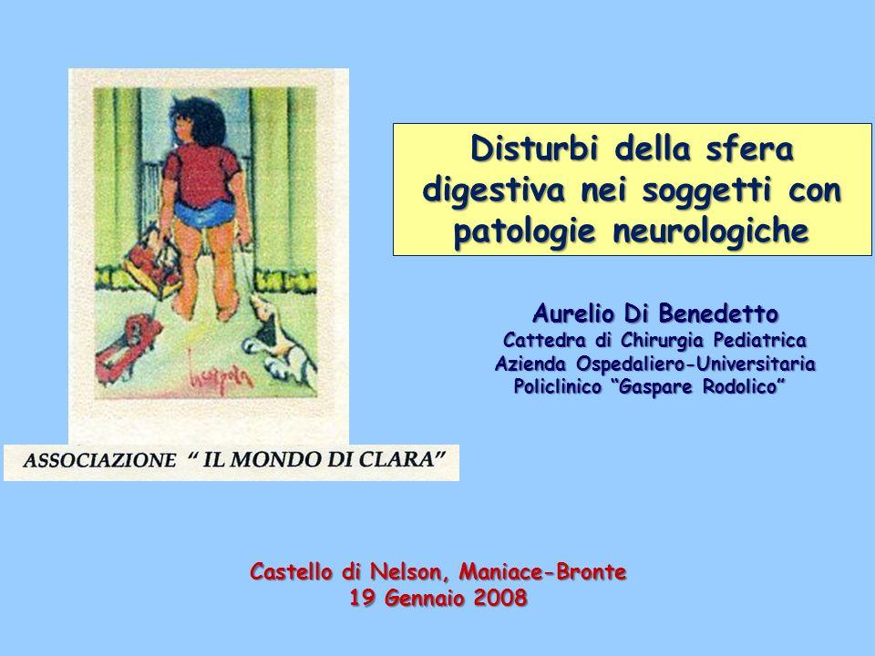 Disturbi della sfera digestiva nei soggetti con patologie neurologiche