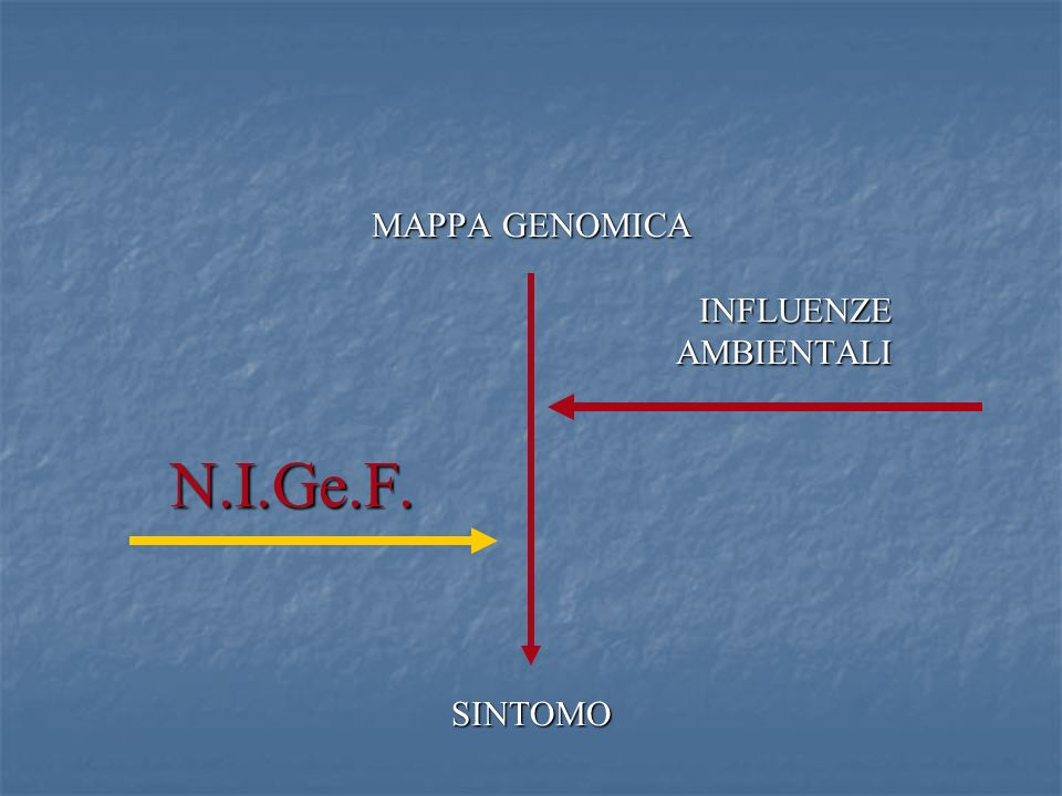 MAPPA GENOMICA INFLUENZE AMBIENTALI N.I.Ge.F. SINTOMO