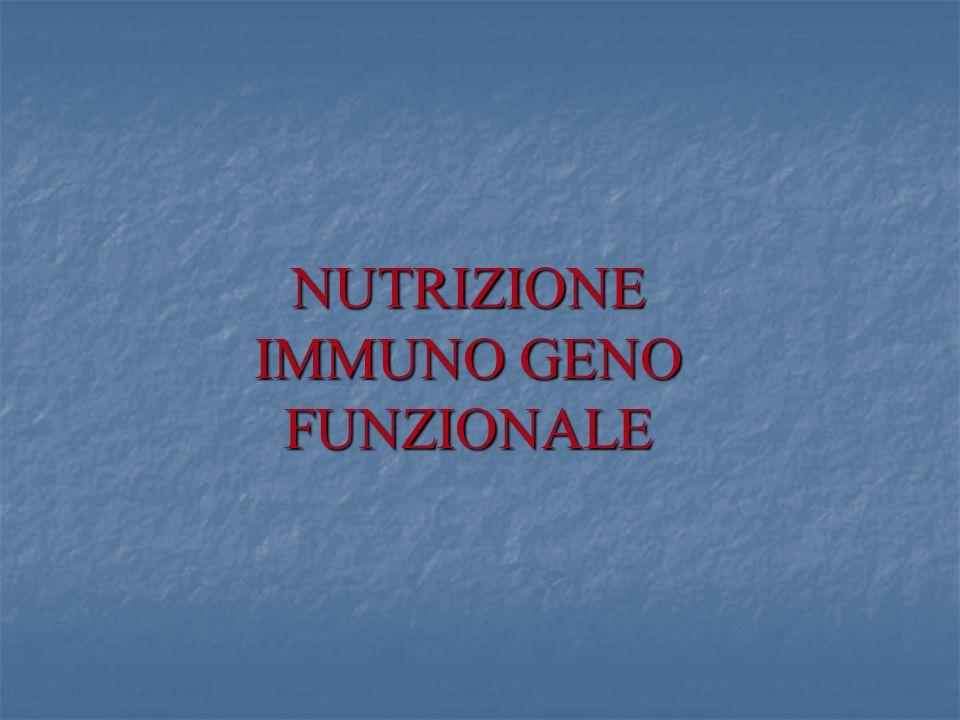 NUTRIZIONE IMMUNO GENO FUNZIONALE