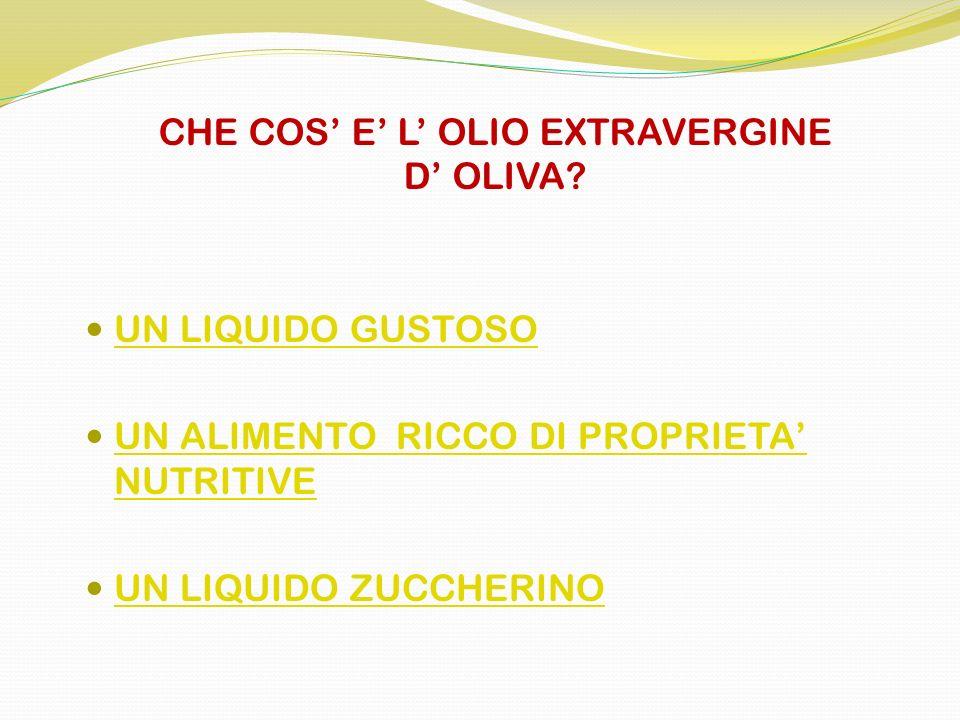 CHE COS' E' L' OLIO EXTRAVERGINE D' OLIVA