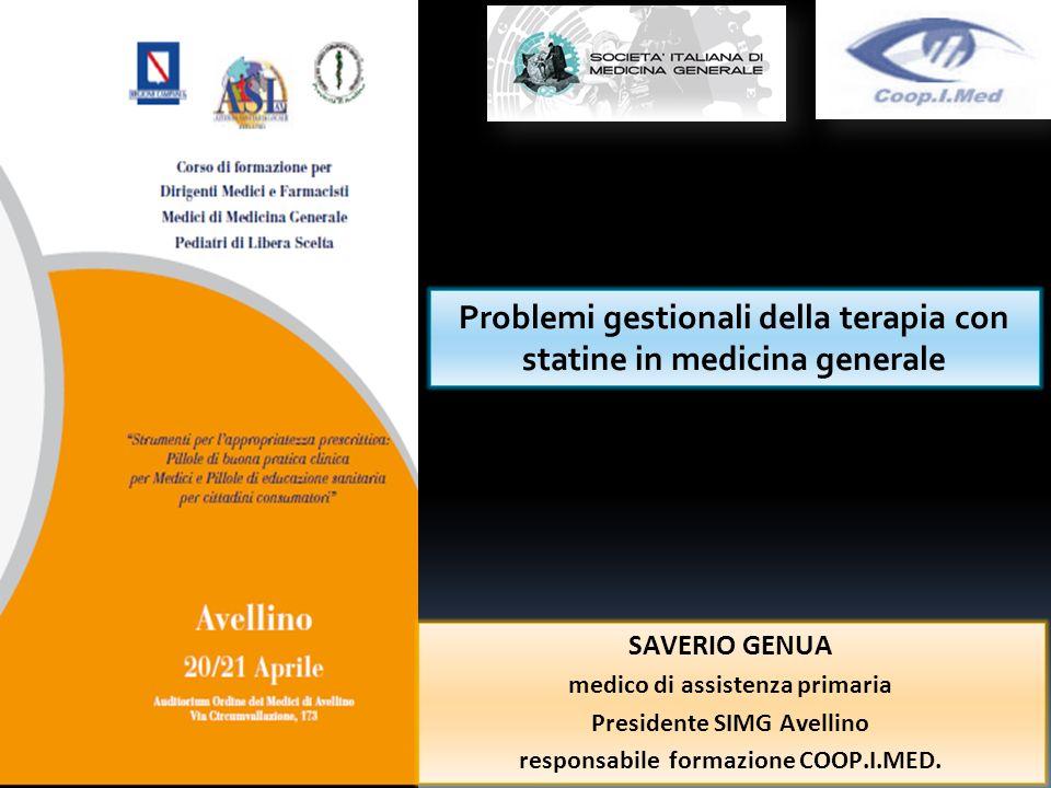 Problemi gestionali della terapia con statine in medicina generale