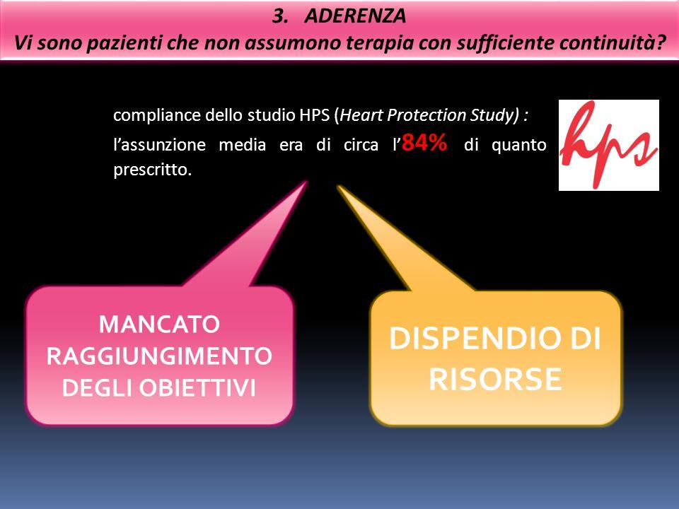 DISPENDIO DI RISORSE MANCATO RAGGIUNGIMENTO DEGLI OBIETTIVI