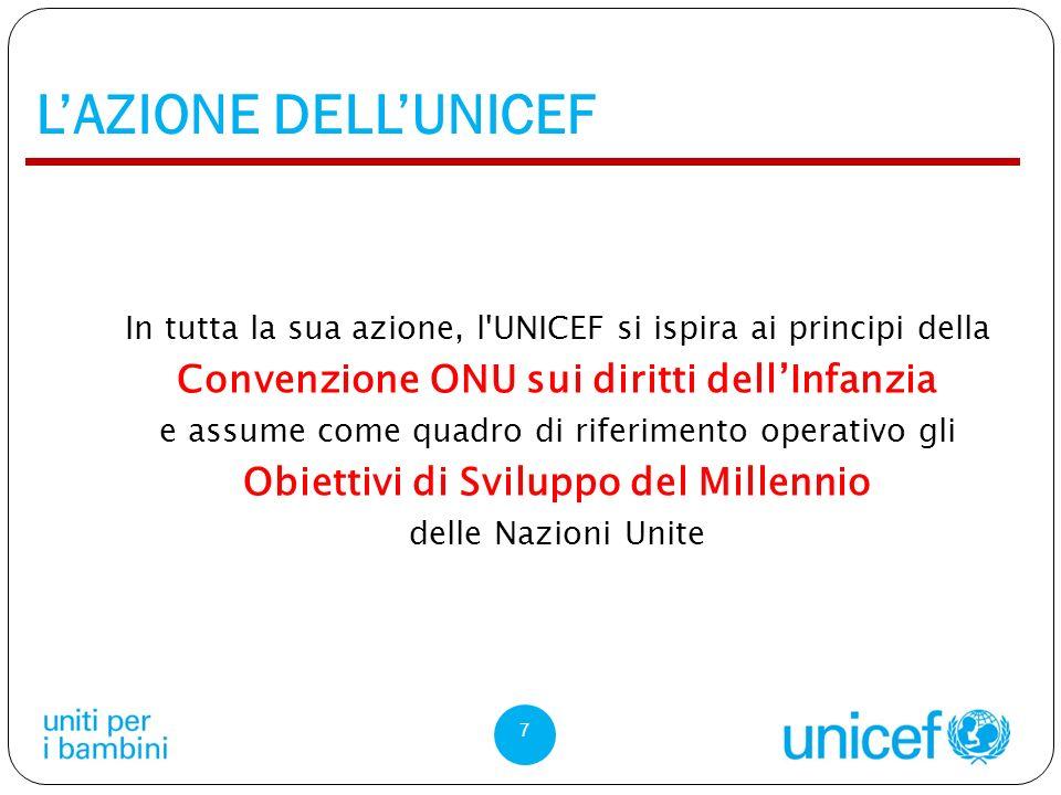 L'AZIONE DELL'UNICEF Convenzione ONU sui diritti dell'Infanzia