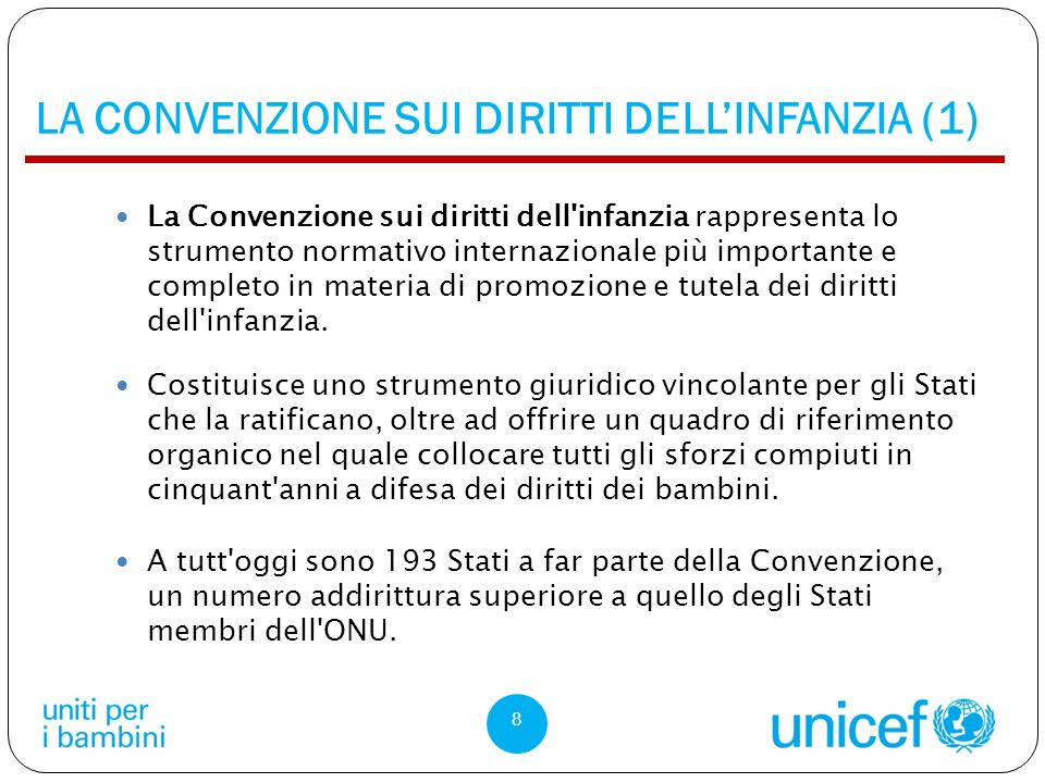 LA CONVENZIONE SUI DIRITTI DELL'INFANZIA (1)