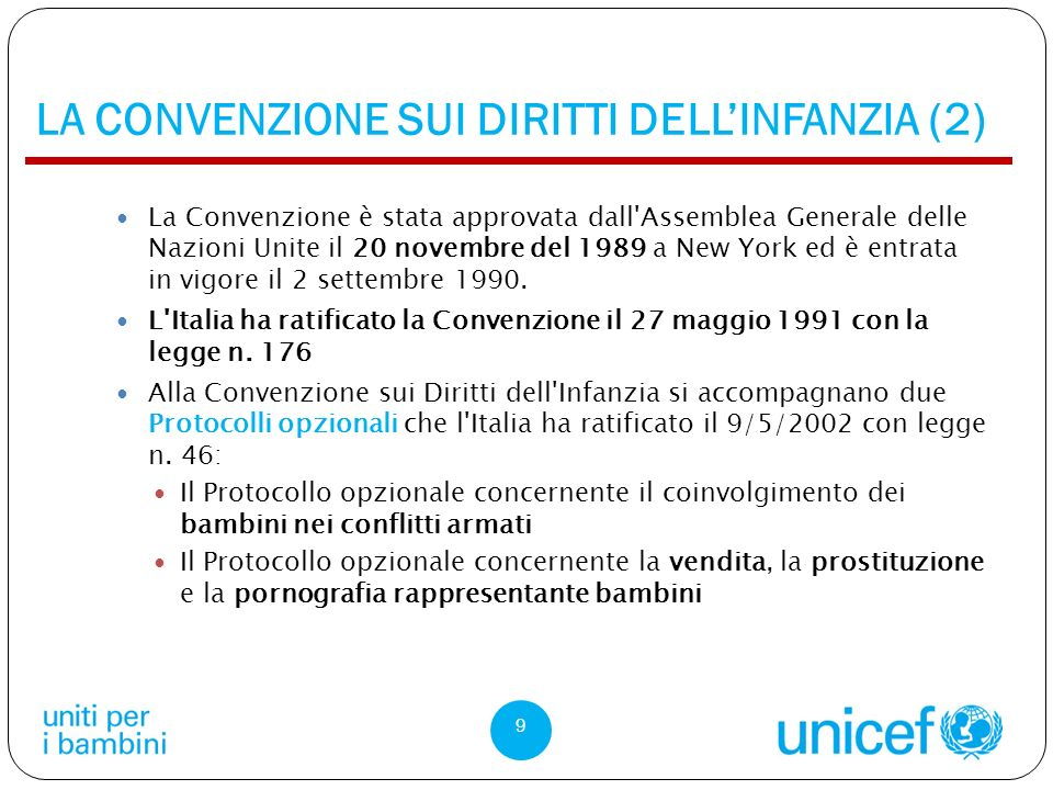 LA CONVENZIONE SUI DIRITTI DELL'INFANZIA (2)