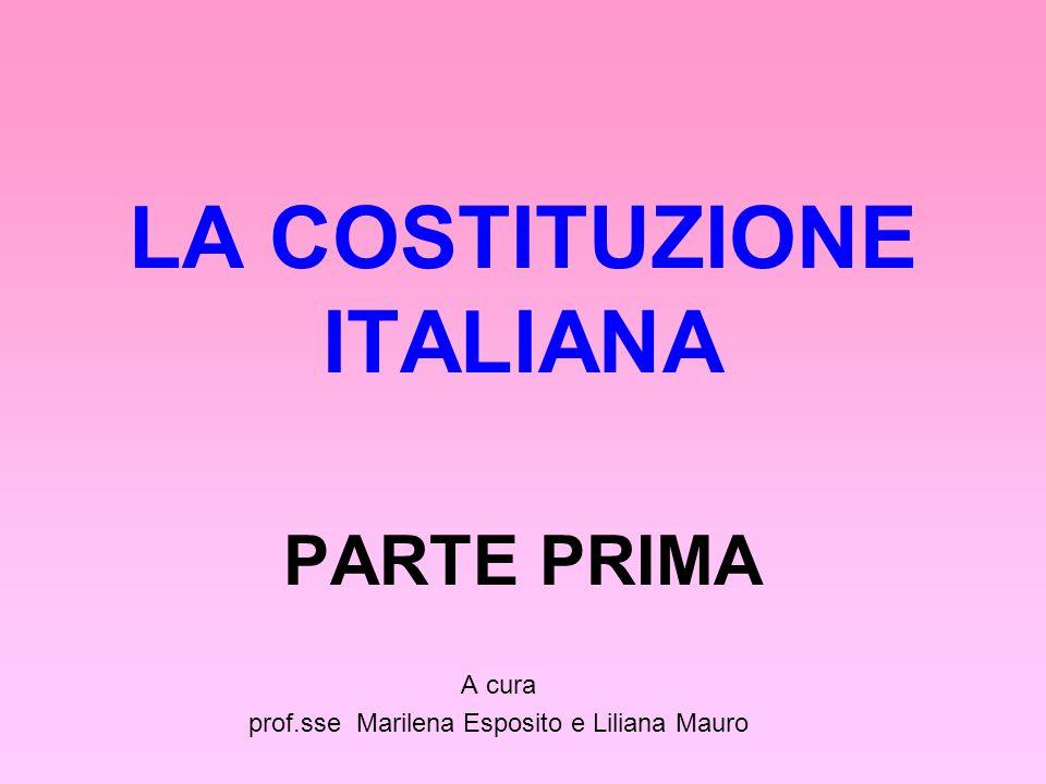 LA COSTITUZIONE ITALIANA PARTE PRIMA